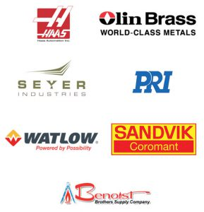 Manufacturing Day Sponsors - Haas Automation, Olin Brass, Seyer Industries, PRI, Watlow, Sandvik Coromant, Benoist Brothers Supply Company
