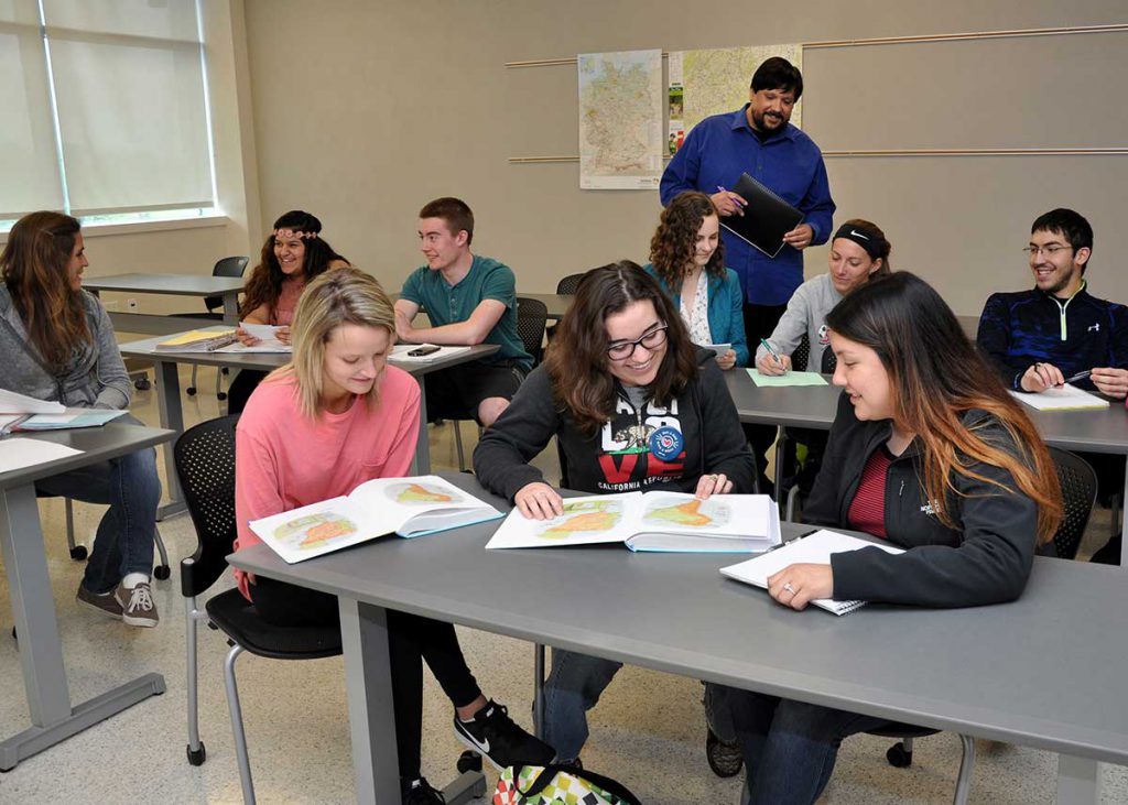 Students studying liberal arts