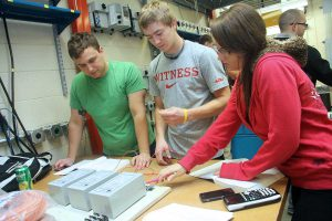 Electrical and Electronic Technology students in hands-on training