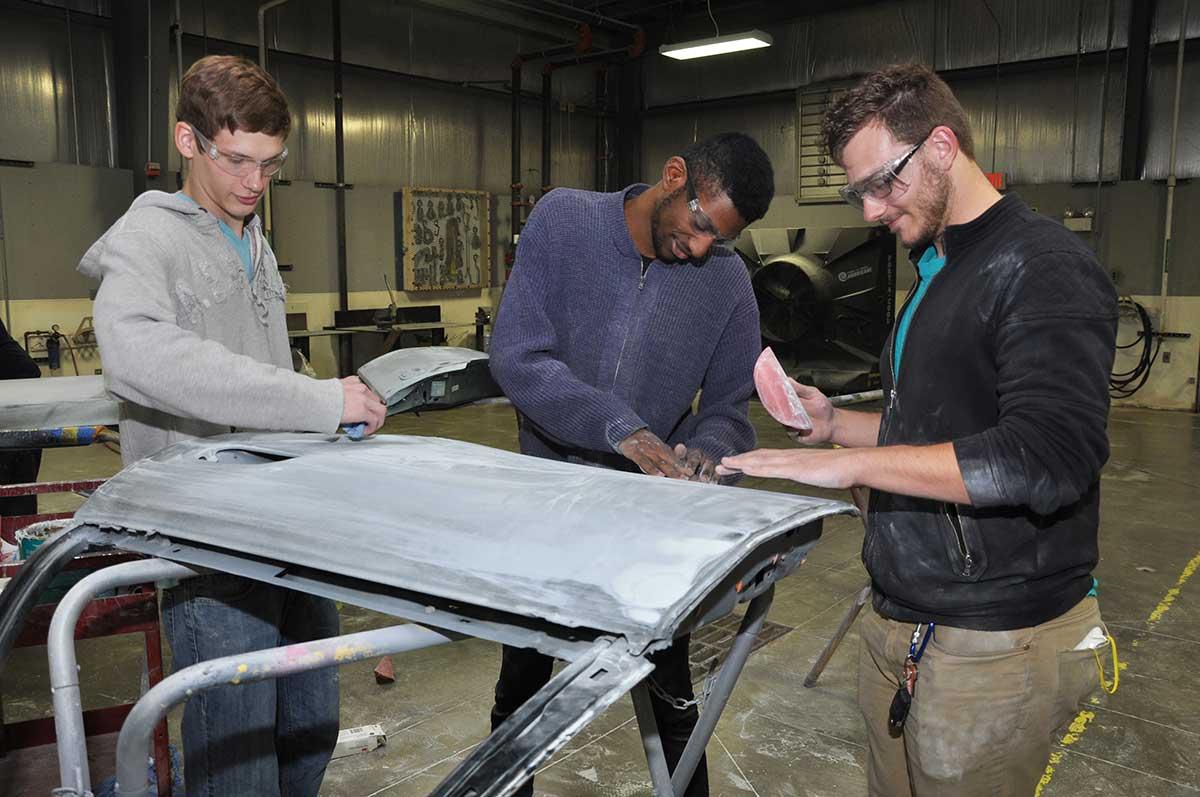 Automotive Collision Repair students