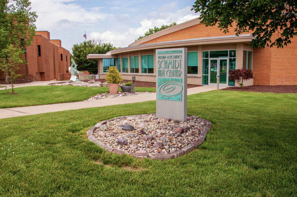 Front of the Schmidt Art Center building.