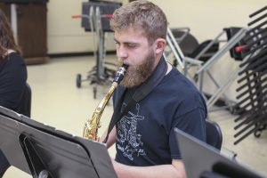 SWIC main campus ensemble practices for a concert.