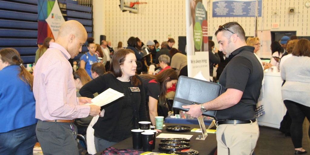 File photo of job fair discussion