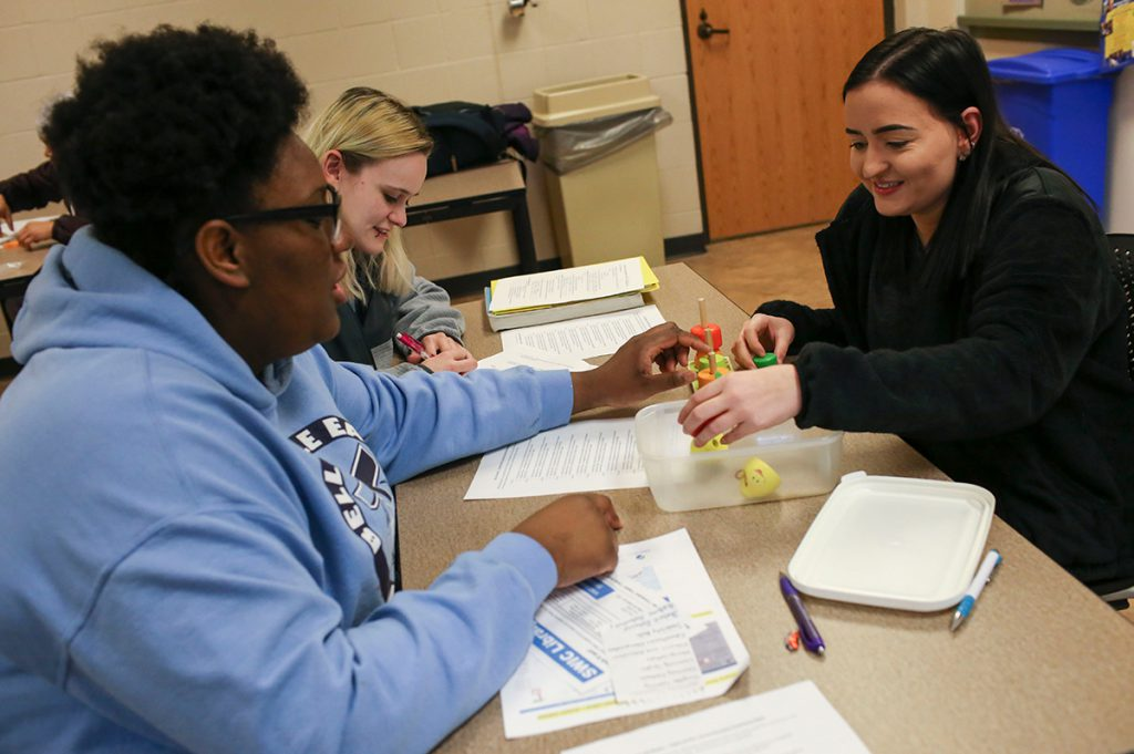 Early Childhood Education students prepare tests as part of the program