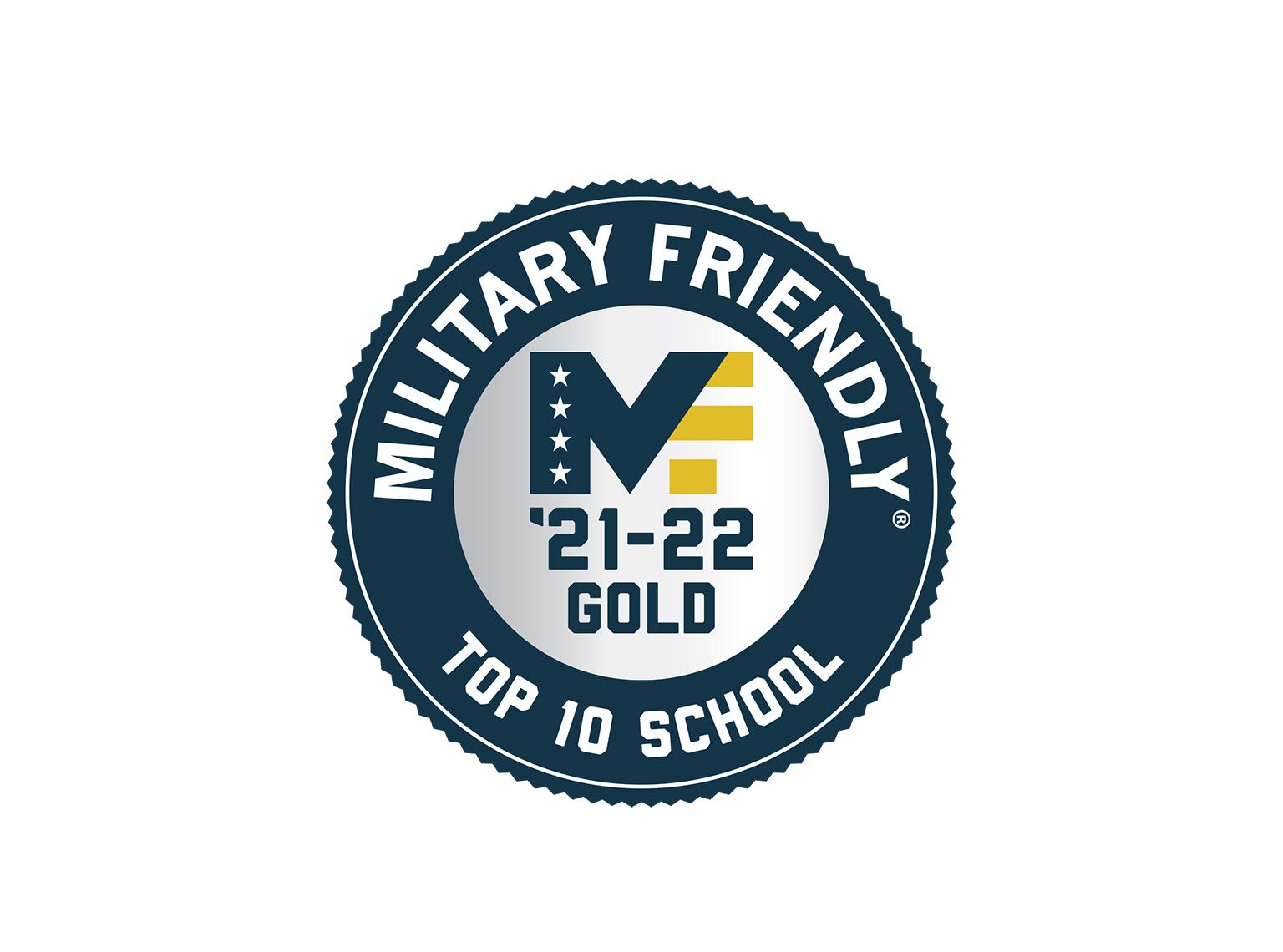 Military Friendly 2021 school logo banner